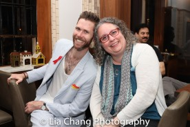 Playwright Philip Dawkins and his agent Beth Blickers. Photo by Lia Chang