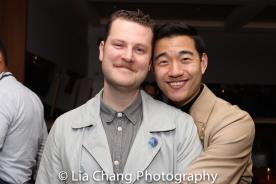 Costume Designer Hunter Kaczorowski and Daniel K. Isaac. Photo by Lia Chang