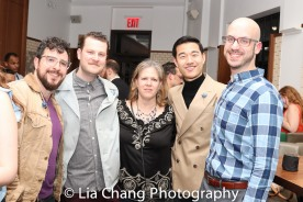 Jordan Seavey, Hunter Kaczorowski, a guest, Daniel K. Isaac and Zach Blane. Photo by Lia Chang