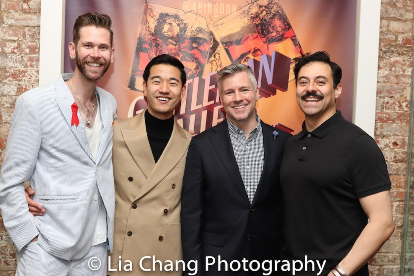 Playwright Philip Dawkins, Daniel K. Isaac, Director Tony Speciale and Juan Francisco Villa. Photo by Lia Chang