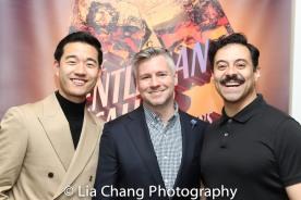 Daniel K. Isaac, Director Tony Speciale and Juan Francisco Villa. Photo by Lia Chang