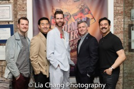 Costume Designer Hunter Kaczorowski, Daniel K. Isaac, Playwright Philip Dawkins, Director Tony Speciale and Juan Francisco Villa. Photo by Lia Chang