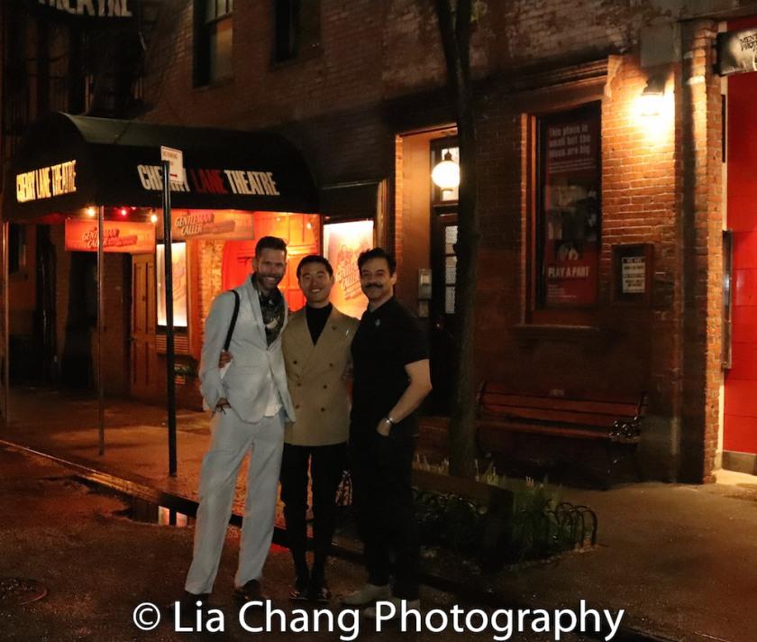 Philip Dawkins, Daniel K. Isaac and Juan Francisco Villa. Photo by Lia Chang