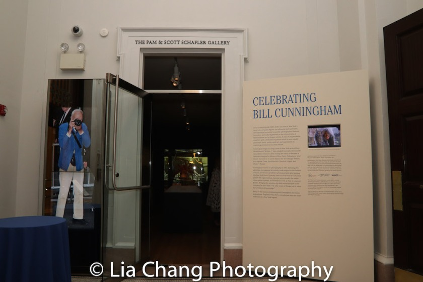 The Celebrating Bill Cunningham exhibition is on display at the New York Historical Society through September 9, 2018. Photo by Lia Chang