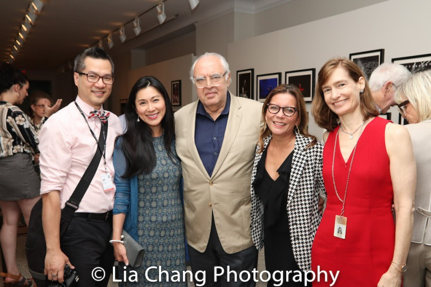 Bill Cunningham's protégé Andy Chen, Agnes Hsu-Tang, trustee of the New-York Historical Society, Norman Benzaquen, trustee of the New-York Historical Society,Valerie Paley, Vice President, Chief Historian, and Margi Hofer, Director of New-York Historical Society, attend the Opening Reception For 'Celebrating Bill Cunningham' at New-York Historical Society on June 18, 2018. Photo by Lia Chang