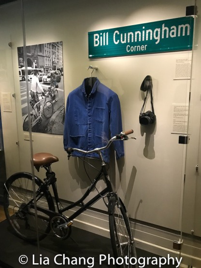 Biria, Germany (est. 1976), one of about 30 bicycles used by Bill Cunningham throughout his career (circa 2002). Photo courtesy of the New-York Historical Society; France. Jacket used by Bill Cunningham, 2000s. Cotton New-York Historical Society, Gift of Louise Doktor, 2017.13.2; Camera (Nikon Model D5200) with 24 mm lens, used by Bill Cunningham (circa 2012). Photo courtesy of the New-York Historical Society. Photo by Lia Chang