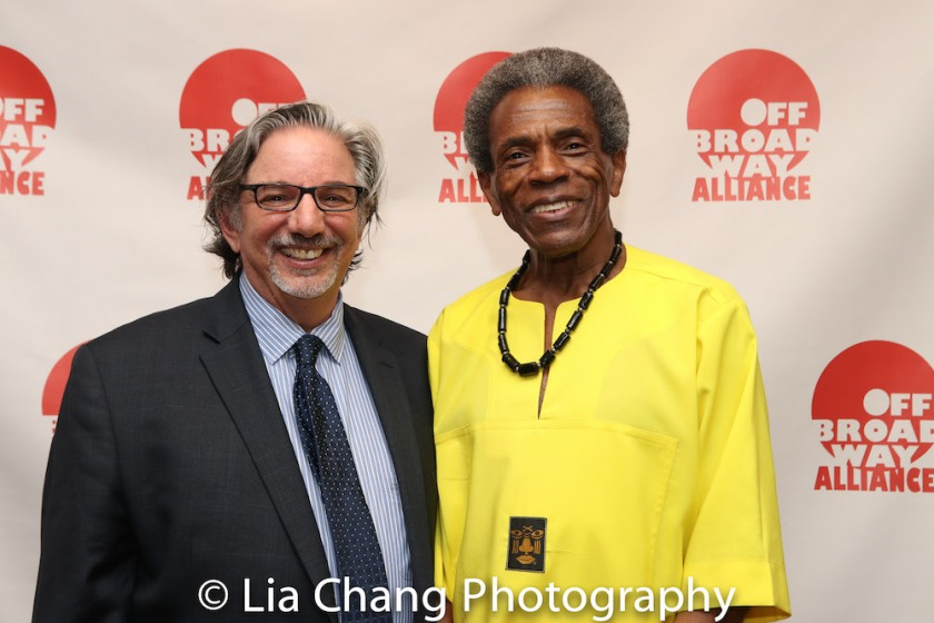 OBA President Peter Breger and André De Shields. Photo by Lia Chang