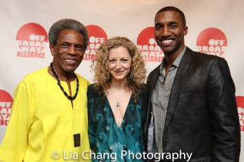 André De Shields, Lauren Molina and Garrett Turner. Photo by Lia Chang