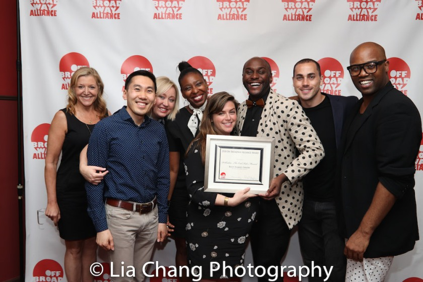 Best Family Show: Polkadots: The Cool Kids Musical - Mary McCann, Ted Arthur, Shea Sullivan, Tamilla Woodard, Allison Beatty, Douglas Lyons, Greg Dean, and Melvin Tunstall III. Photo by Lia Chang