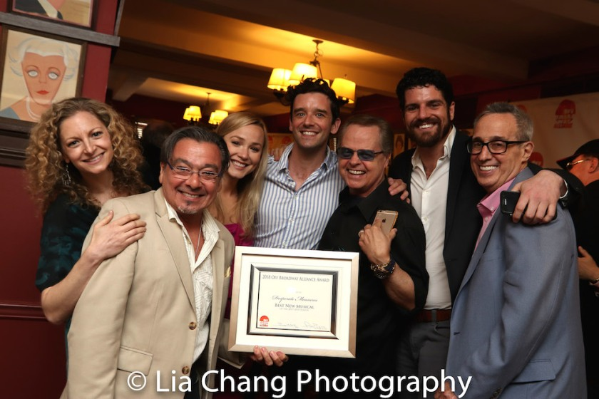 Lauren Molina, Bill Castellino, Celia Hottenstein, Michael Urie, Gary Marachek, Peter Saide, David Friedman. Photo by Lia Chang