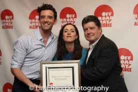 Best Revival: THE GOVERNMENT INSPECTOR- Michael Urie, Talene Monahon, Michael McGrath. Photo by Lia Chang