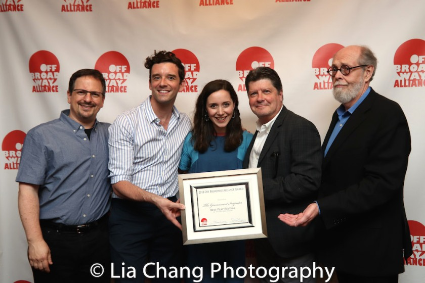 Best Revival: THE GOVERNMENT INSPECTOR - Jessie Berger, Michael Urie, Michael McGrath, Jeffrey Hatcher. Photo by Lia Chang