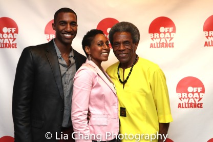 Garrett Turner, André De Shields and Erin Cherry. Photo by Lia Chang