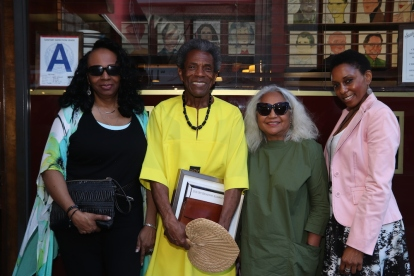Freida Williams, André De Shields, Petra Schein and Erin Cherry. Photo by Lia Chang