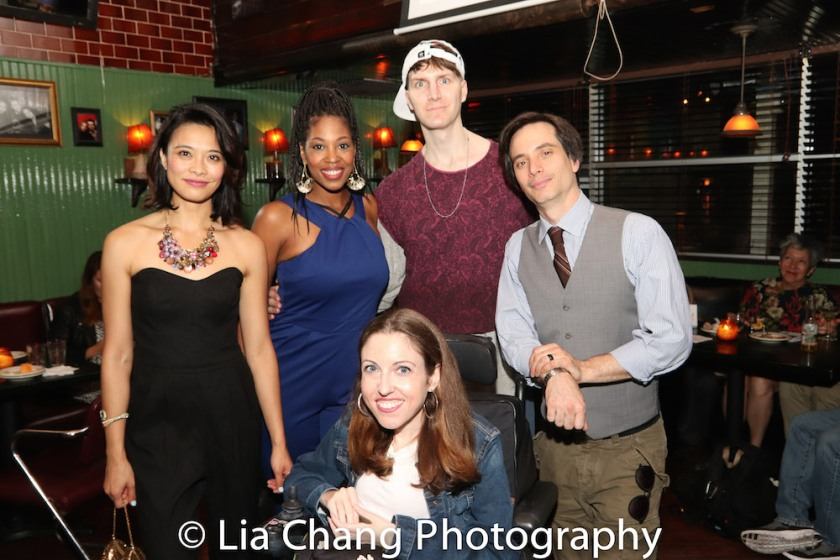 Tiffany Villarin, Marinda Anderson, Shannon Devido, Alex Breaux, Gregg Mozgala. Photo by Lia Chang