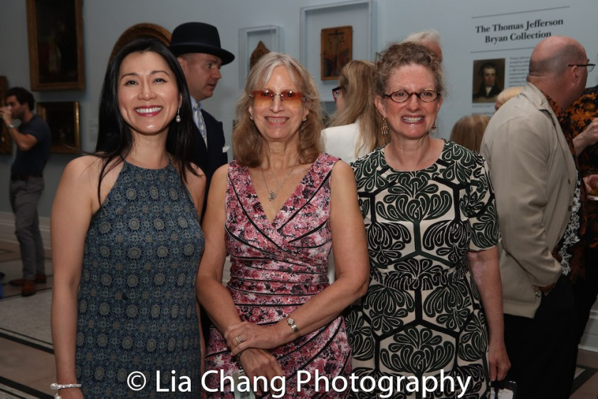 Dr. Agnes Hsu-Tang, trustee of the New-York Historical Society, Louise Mirrer, President and CEO, New-York Historical Society and Debra Schmidt-Bach, Curator of Decorative Arts at the New- York Historical Society attend the Opening Reception For 'Celebrating Bill Cunningham' at New-York Historical Society on June 18, 2018. Photo by Lia Chang