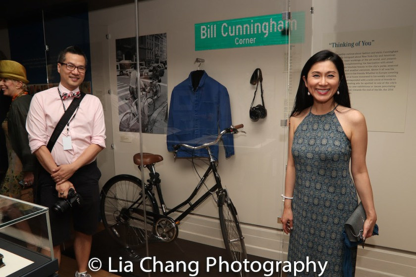 Bill Cunningham's protégé Andy Chen and Dr. Agnes Hsu-Tang, trustee of the New-York Historical Society attend the Opening Reception For 'Celebrating Bill Cunningham' at New-York Historical Society on June 18, 2018. Photo by Lia Chang