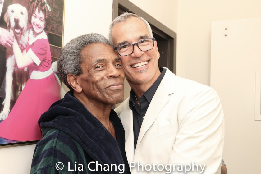 André De Shields and Jerry Mitchell. Photo by Lia Chang