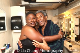 Johmaalya Adelekan and André De Shields. Photo by Lia Chang