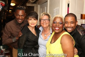Lillias White with her guests backstage. Photo by Lia Chang