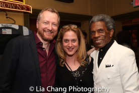 Bob Martin, Lisa Lambert and André De Shields. Photo by Lia Chang