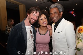 Christian Borle, Talya Groves and André De Shields. Photo by Lia Chang