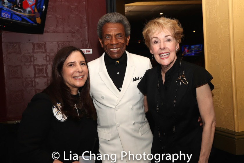 Dori Berinstein, André De Shields and Georgia Engel. Photo by Lia Chang
