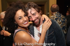 Talya Groves and Christian Borle. Photo by Lia Chang