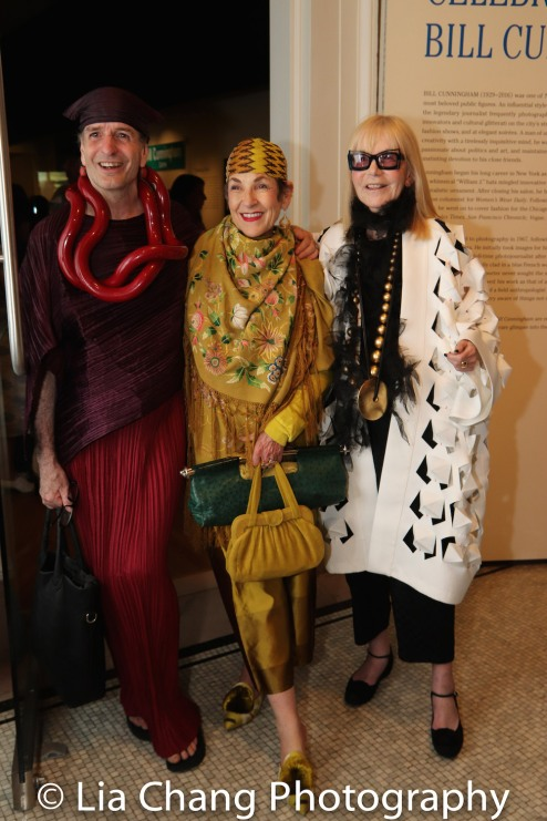 Timothy John, Tziporah Salamon and Marjorie Stern attend the Opening Reception For 'Celebrating Bill Cunningham' at New-York Historical Society on June 18, 2018. Photo by Lia Chang