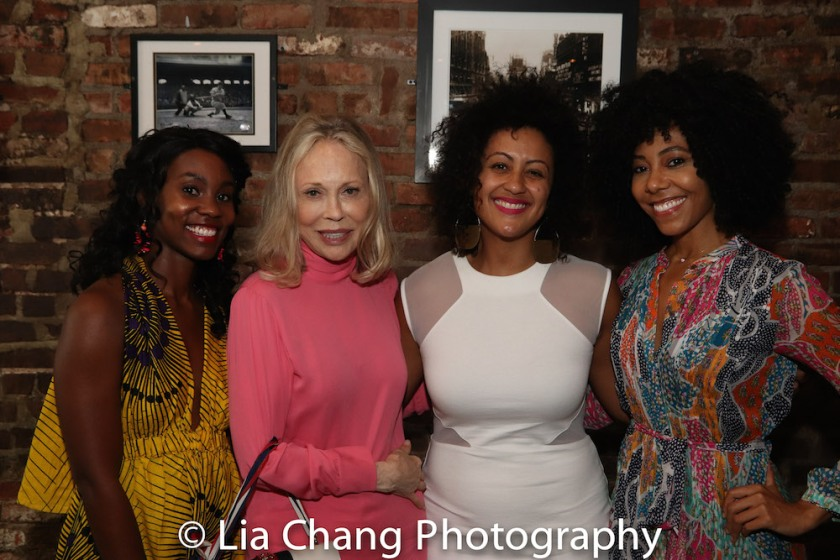 Joniece Abbott-Pratt, Faye Dunaway, Lileana Blain-Cruz and Nedra McClyde. Photo by Lia Chang