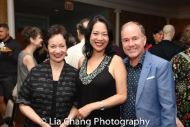 Lynn Flaherty, Christine Toy Johnson and Stephen Flaherty. Photo by Lia Chang