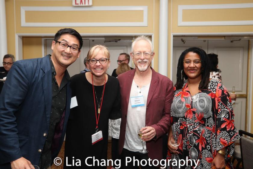 Timothy Huang, Tina Fallon, Robert Schenkkan and Lynn Nottage. Photo by Lia Chang