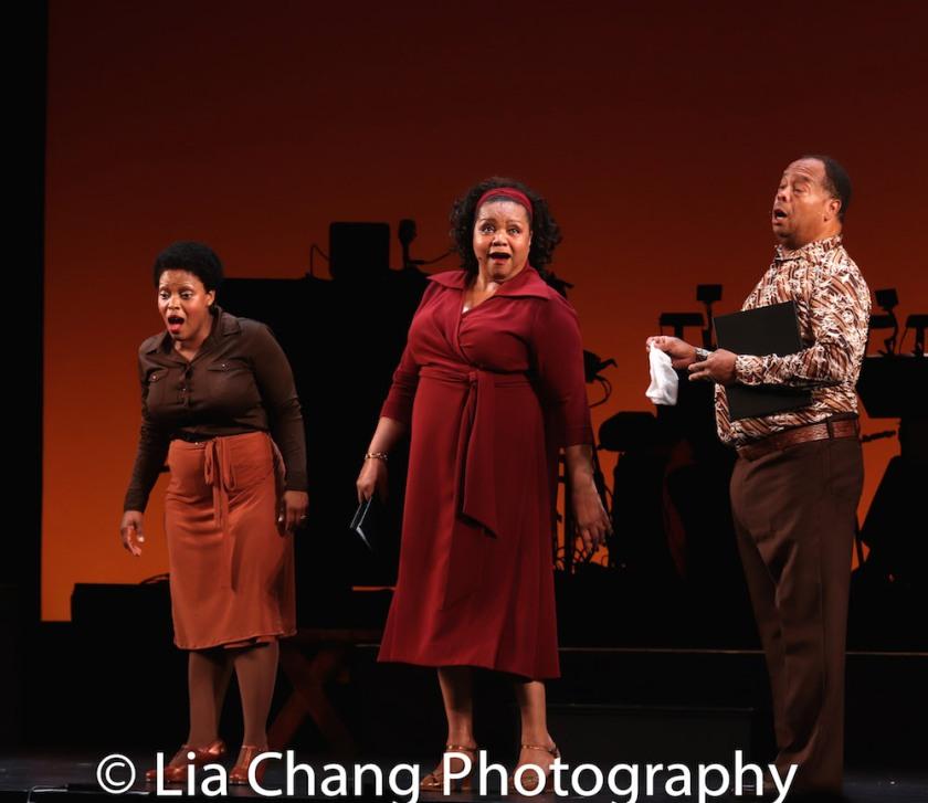 Rheaume Crenshaw, Aisha de Haas and Wayne Pretlow. Photo by Lia Chang