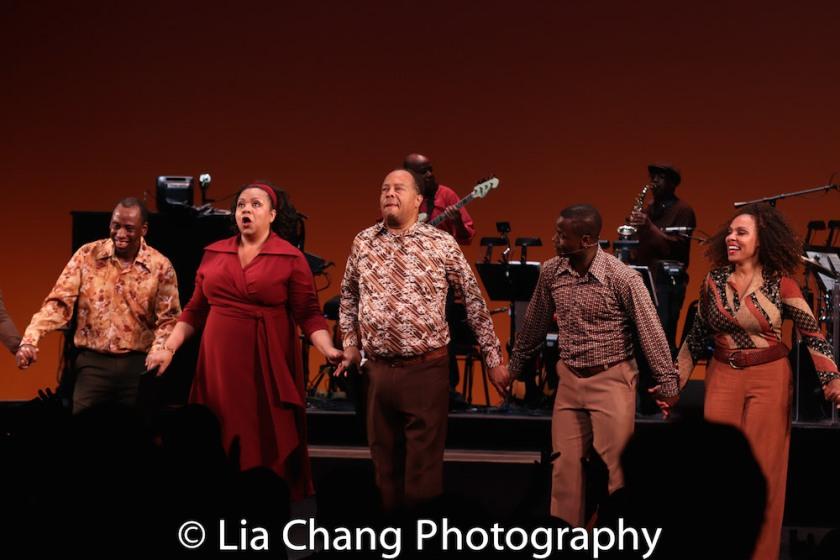 Jeff Foote, Aisha de Haas, Wayne Pretlow, James T. Lane and Nina Hudson. Photo by Lia Chang