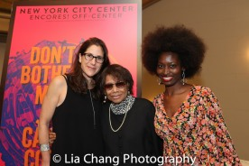 Anne Kaufman, Encores! Off-Center Co-Artistic Director, Micki Grant and Lori Minor. Photo by Lia Chang