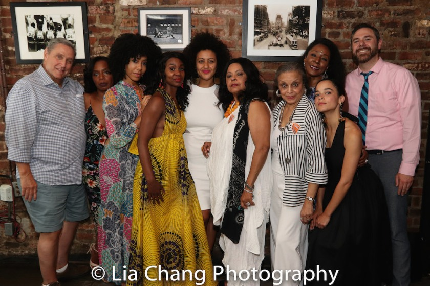 Jim Nicola, Michelle Wilson, Nedra McClyde, Joniece Abbott-Pratt, Lileana Blain-Cruz, Lynda Gravatt, Marie Thomas, Harriett D. Foy, Juliana Canfield and Jeremy Blocker. Photo by Lia Chang