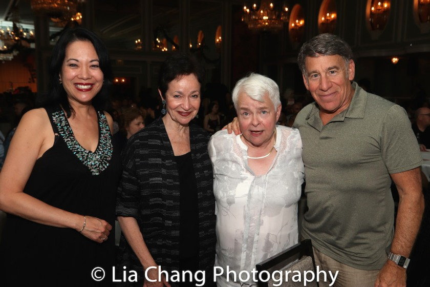 Christine Toy Johnson, Lynn Ahrens, Paula Vogel and Stephen Schwartz. Photo by Lia Chang