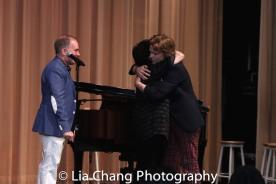 Stephen Flaherty, Lynn Ahrens, Rory James Leech. Photo by Lia Chang