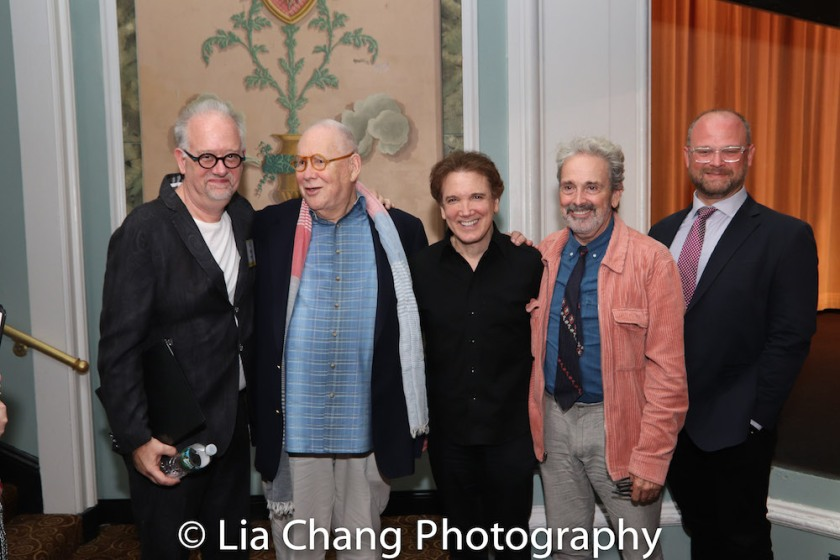 Doug Wright, Jeff Melnick, Charles Busch and Craig Lucas, Carl Andress. Photo by Lia Chang