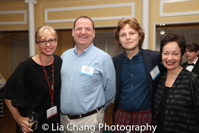 Tina Fallon, Perryn Leech, Rory James Leech and Lynn Ahrens. Photo by Lia Chang