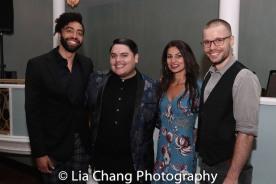 Rashaad Hall, Isaac Gomez, Martyna Majok and Josiah Bania. Photo by Lia Chang