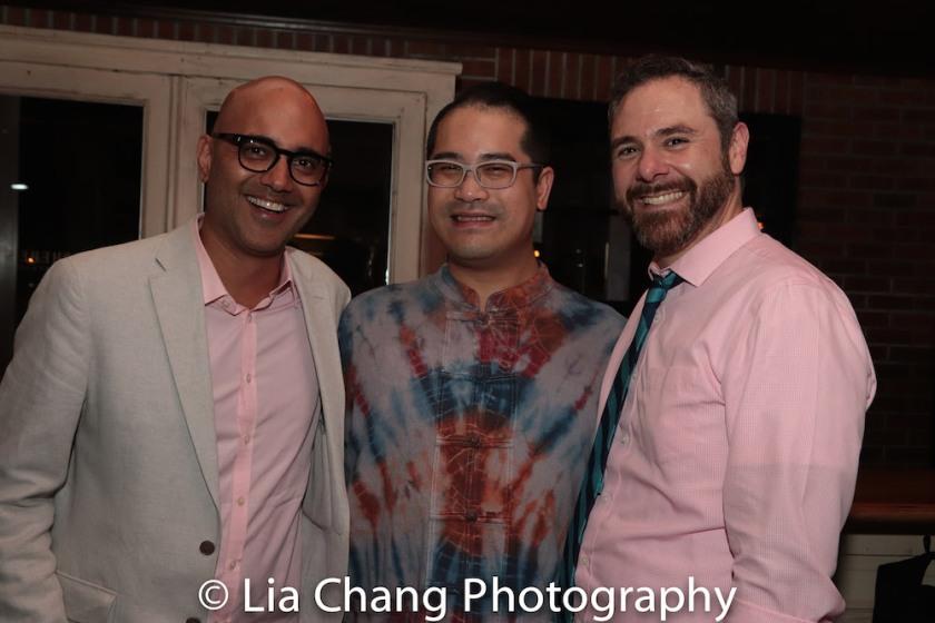 Ayad Akhtar, Ed Iskandar and Jeremy Blocker. Photo by Lia Chang
