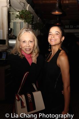 Faye Dunaway and Juliana Canfield. Photo by Lia Chang