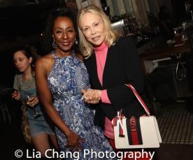 Harriett D. Foy and Faye Dunaway. Photo by Lia Chang