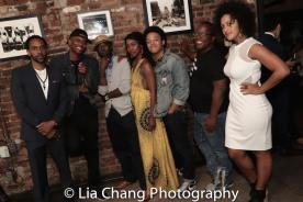 Jaime Lincoln Smith, Charlie Hudson III, Joniece Abbott-Pratt, Christopher Livingston, Michael Jackson and Lilieana Blain Cruz. Photo by Lia Chang