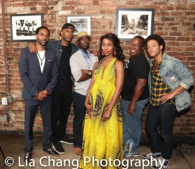 Jaime Lincoln Smith, Charlie Hudson III, Joniece Abbott-Pratt, Michael Jackson and Christopher Livingston. Photo by Lia Chang
