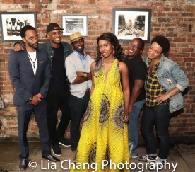 Jaime Lincoln Smith, Charlie Hudson III, Joniece Abbott-Pratt, Michael Jackson and Christopher Livingston. Photo by Lia Chang