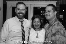 Jeremy Blocker, Purva Bedi and Ed Iskandar. Photo by Lia Chang