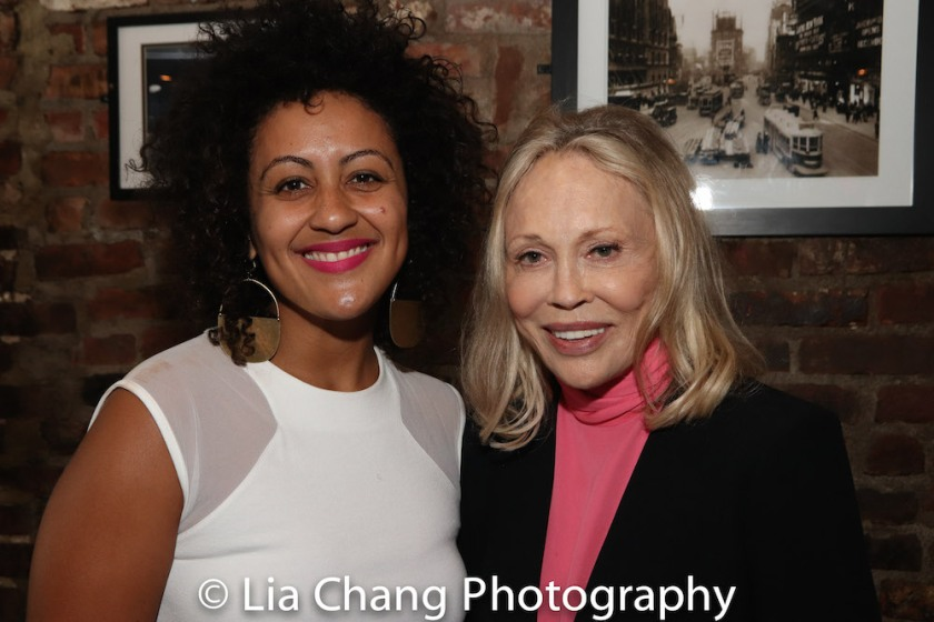 Lileana Blain-Cruz and Faye Dunaway. Photo by Lia Chang