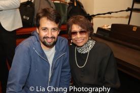Lin-Manuel Miranda and MIcki Grant. Photo by Lia Chang